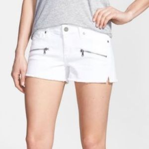 🌸Paige Indio Zip cut Off Shorts In White🌸Size 26